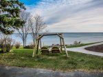 Sit back in the swing and enjoy the amazing Lake Superior views.