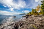 Enjoy the sights and sounds of Lake Superior to make any happy hour even happier
