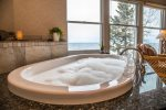 2-person whirlpool lets you open windows and listen to the crashing-wave sounds - upper-level master bedroom, sometimes called the honeymoon suite