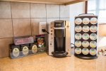 Exclusive at Bluefin: like many fine hotels, this Premium Home offers Keurig state-of-the-art-coffee, with supply of 8 famous flavors
