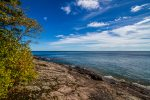 The ledgerock shoreline is ideal for a stroll along Lake Superior or for sitting back and watching the waves roll in.