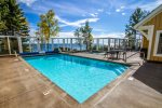 Like other Resort guests, enjoy the year-around outdoor pool. For this home, just steps away - with Lake views, adjacent whirlpool and sunning decks