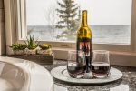 Open a bottle of wine from the nearby North Shore Winery to help you relax.