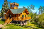 Eagles Nest is a log home located in the hills above Tofte, MN.