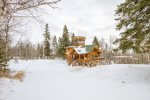 Eagle`s Nest is a Winter Wonderland and a great home base for a winter ski trip.