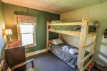 The second bedroom has twin bunk beds - perfect for kids.