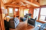 Located all on one level, Fox Cove is great for a family retreat or a couples` getaway.