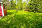 The large, private back yard backs up to the Boreal Forest making this a great North Woods retreat.