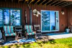 Outside you can sit on your private patio and enjoy the views of Lake Superior.