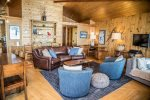 Comfortable, well-appointed furnishings make this cabin feel high end and welcoming.