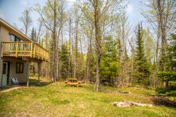 Maple Haven on Caribou Lake is tucked in a beautiful sanctuary of maple trees and wild flowers.