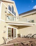 Enjoy privacy on Cobblestone Cove 2 patio located off of the living room.