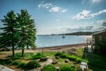 Just a short stroll away and you are at the shore of Lake Superior facing the Grand Marais Harbor.