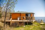 This seasonal cabin is the ideal escape on Lake Superior`s north shore.
