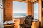 The 3-large windows provide sweeping views of Lake Superior while you dine.