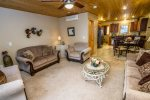This lower level living area offers all the comforts your family needs.