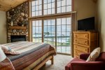 Excellent views of the harbor can be viewed from the upper-level master bedroom