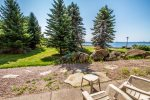 This is the view from the patio of Cobblestone Cove 8- great views of Lake Superior and Boulder Park.