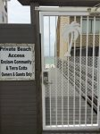 Private Gate to Public Beach