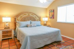 Enjoy the 3rd floor master king master suite after a good day at the beach.