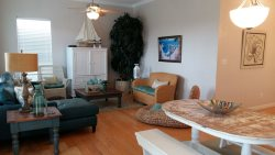 Casa Gardenia Living and Dining area - South Padre Island Beach House Rental