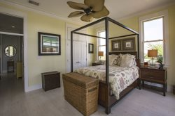Master Suite bedroom. Lotus Villa Luxury 4 story Vacation Rental at the Shores South Padre Island