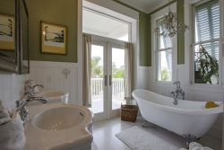 Master Suite bathroom. Lotus Villa Luxury 4 story Vacation Rental at the Shores South Padre Island