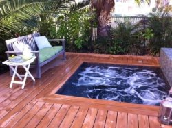 Deep hot tub. Lotus Villa Luxury 4 story Vacation Rental at the Shores South Padre Island