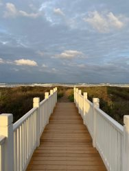 Take the boardwalk. Lotus Villa Luxury 4 story Vacation Rental at the Shores South Padre Island
