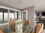 Dining area with easy access to the balcony & grill