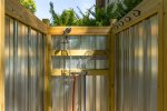 Private Outdoor Hot and Cold Shower