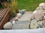 Stone Walkway down from Deck