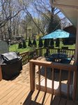 Back deck faces East for dining, grilling and relaxing