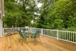 Back Deck. Private and Wooded