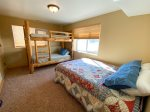 4th Bedroom- Queen bed and twin Bunk bed