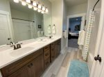 Jack and Jill full bathroom with double vanity