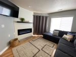 Fire place, TV and Family Room