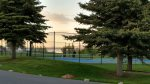 Tennis courts and basketball courts
