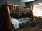 Downstairs Bedroom Twin over Full Bunk Bed w/ Full Trundle