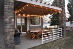 Backyard patio and lighting
