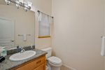 Kitchen has birch cabinetry, granite countertops & high end stainless appliances.