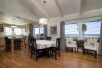 Enjoy ocean views from the dining room, kitchen, and living room
