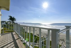 Classic Oceanfront Cayucos Home with Ocean Facing Deck and Direct Beach Access