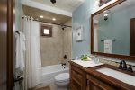 Full Bathroom located in the Carmel Suite.