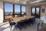 Enjoy the view while dining with access to the deck