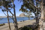 The view of Morro Rock from the stairs leading to the bay just down the street