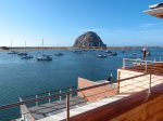 This is the amazing up-close view of Morro Rock from the balcony