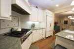 This high end chef`s kitchen will not disappoint.  It has Dacor appliances, a huge gas range and a double oven