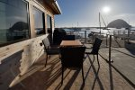 This unit has an amazing bayfront patio with grill and table a chairs, perfect place to grab your favorite beverage and sit to enjoy the sunsets
