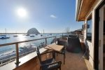 From your balcony you have 180 degree view of Morro Bay Harbor.